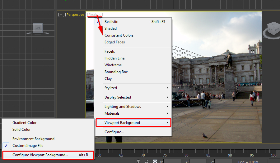 Load up the background photo in the perspective viewport