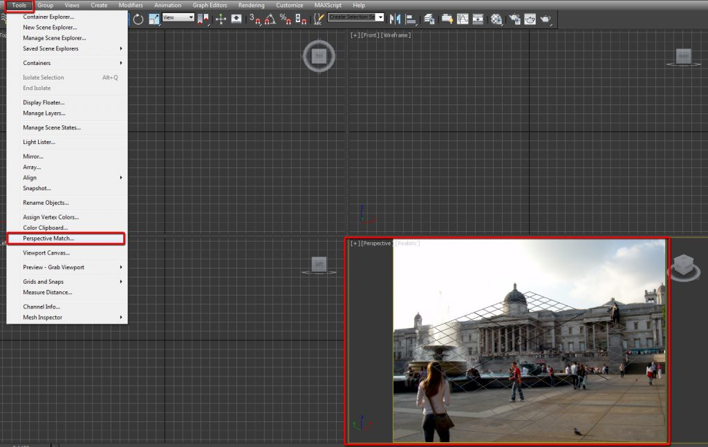 Select the Perspective Match tool