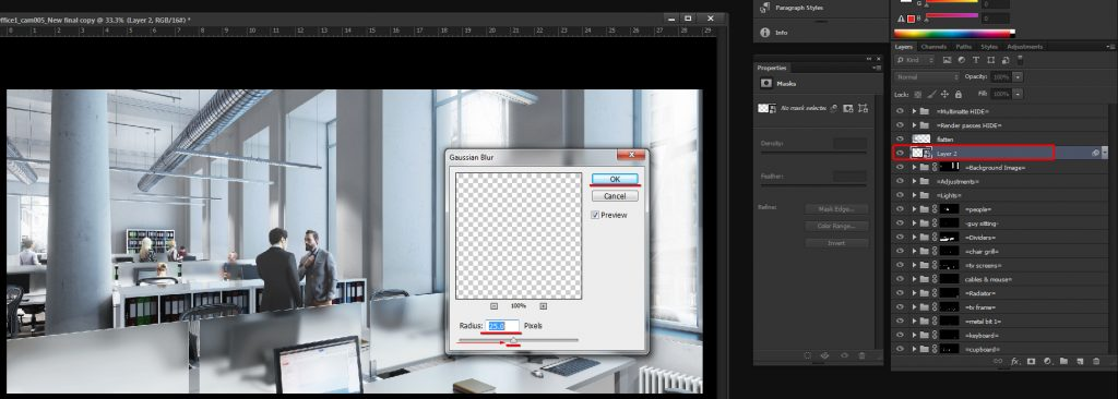 Overlay and reduce the layer Opacity to 50%