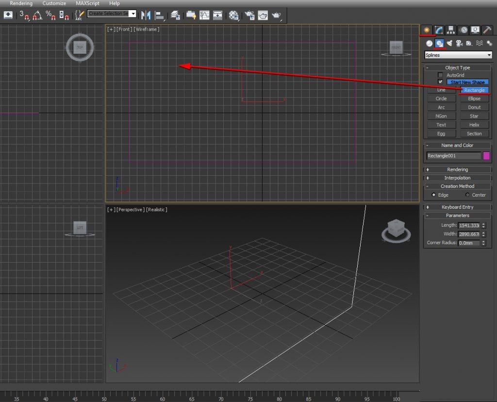 Create a rectangle shape